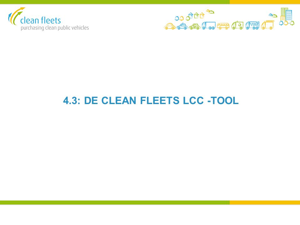 4.3: DE CLEAN FLEETS LCC -TOOL