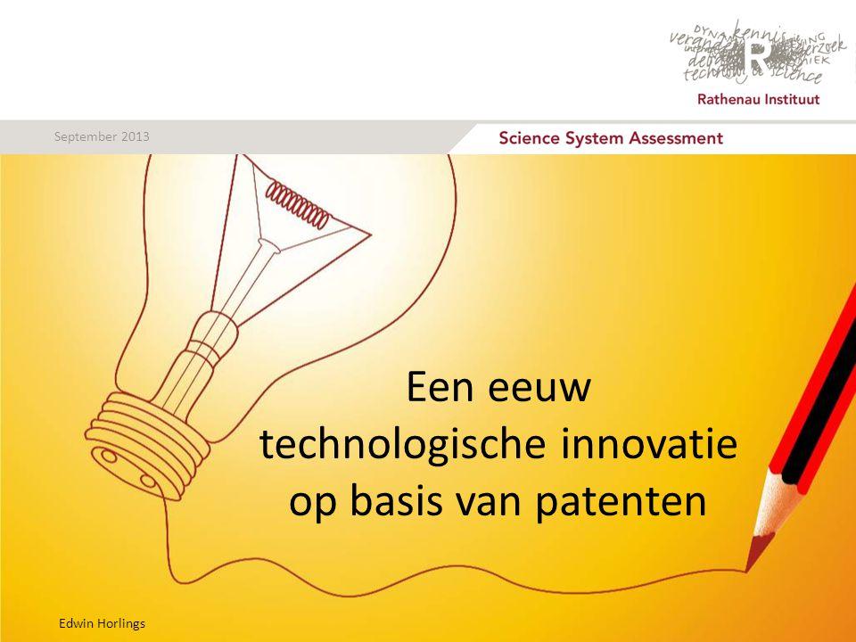 September 2013 Verband productiviteit en patenten?
