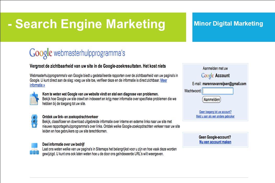 Minor Digital Marketing - Search Engine Marketing
