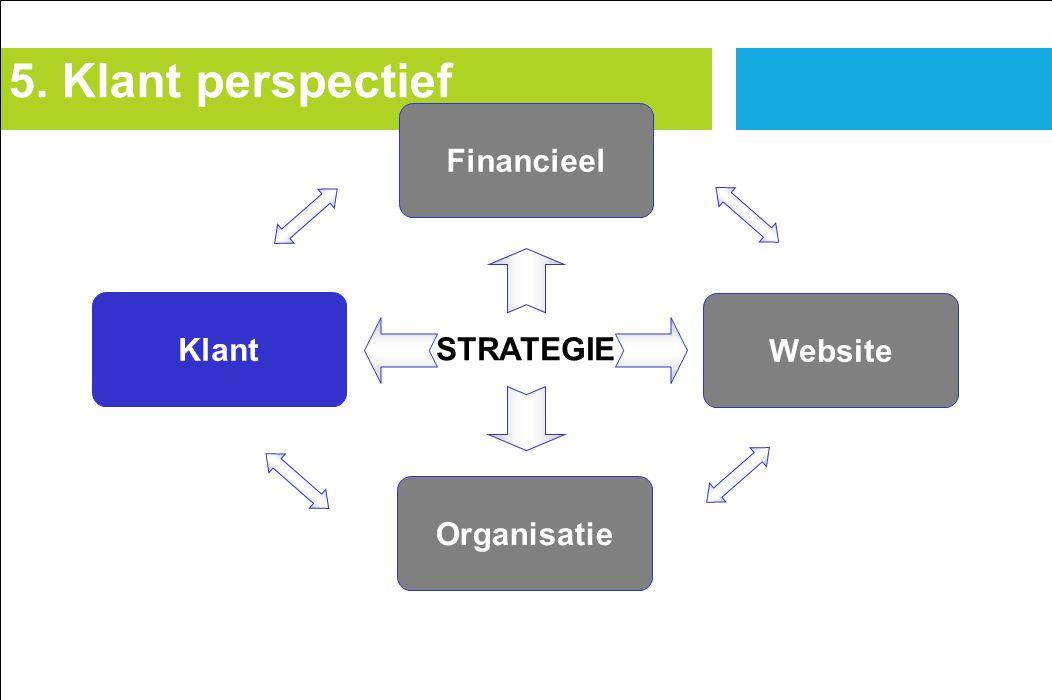Klant Financieel Website Organisatie STRATEGIE 5. Klant perspectief