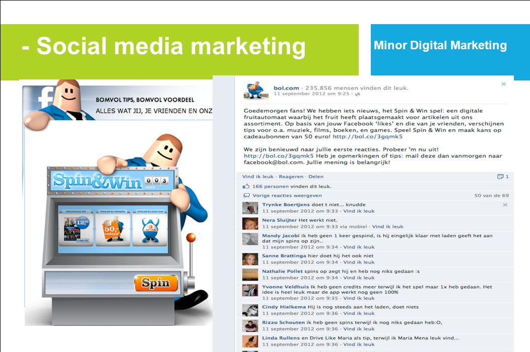 - Social media marketing Minor Digital Marketing