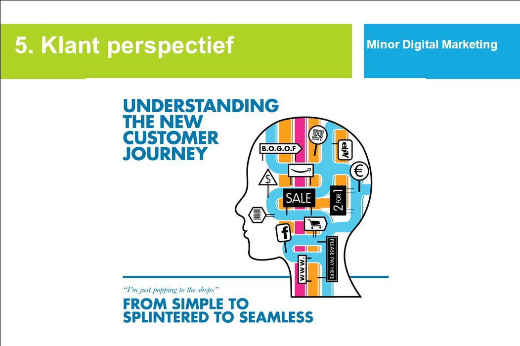 Minor Digital Marketing 5. Klant perspectief