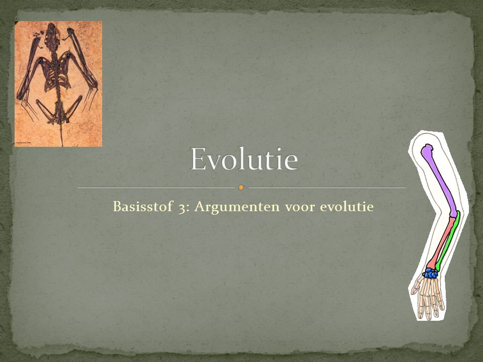 Evolutie en de evolutietheorie zijn twee verschillende dingen: - Evolutie is een waarneembaar verschijnsel (namelijk de geleidelijke verandering van soorten organismen.