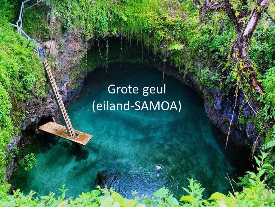 Grote geul (eiland-SAMOA)