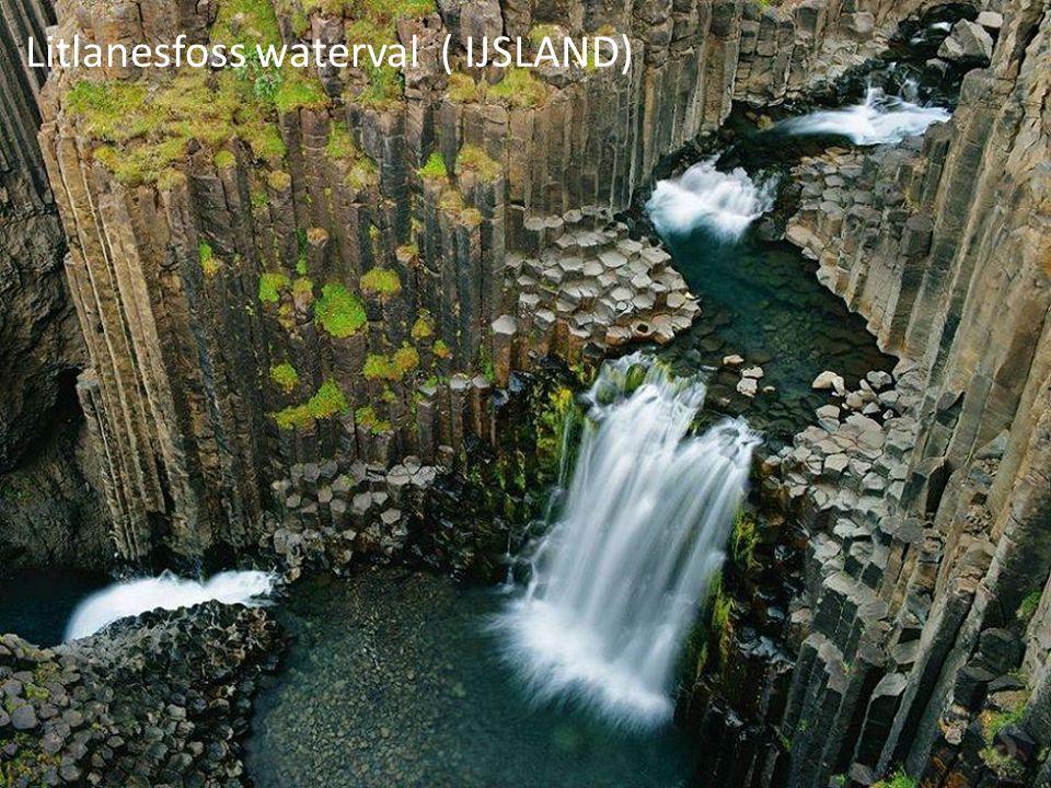 Litlanesfoss waterval ( IJSLAND)