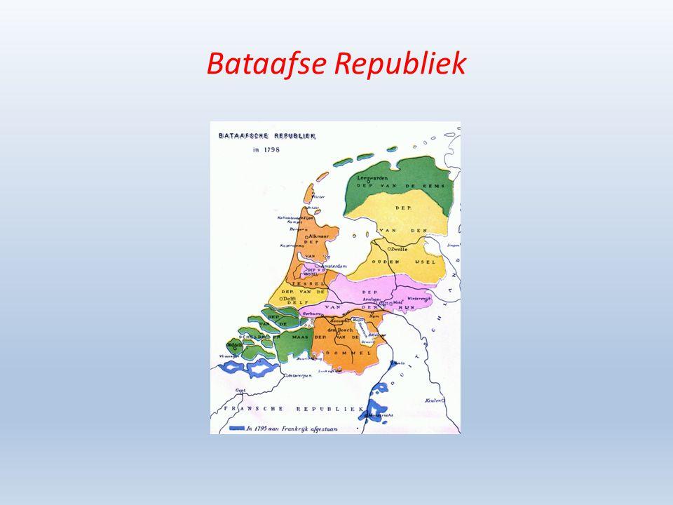De Noordelijke en Zuidelijke Nederlanden worden bij het Congres van Wenen weer aaneengesmeed teneinde een sterke noordelijk buffer te vormen tegen hernieuwde Franse expansie – De zoon van de gevluchte stadhouder wordt koning Ontstaan van een constitutionele monarchie – Een verstandshuwelijk tussen Noord en Zuid was van korte duur (1830) – De verschillen en de tegenstellingen waren te groot Bestuurlijk – het Noorden speelde de baas; Zuiden was veel liberaler Cultureel – Taal- en godsdienstige verschillen (Het Zuiden was sterk Franstalig en Rooms-Katholiek Economisch – Noorden, handel versus Zuiden, industrie – Zuiden moest meebetalen aan de grote staatsschuld van het Noorden