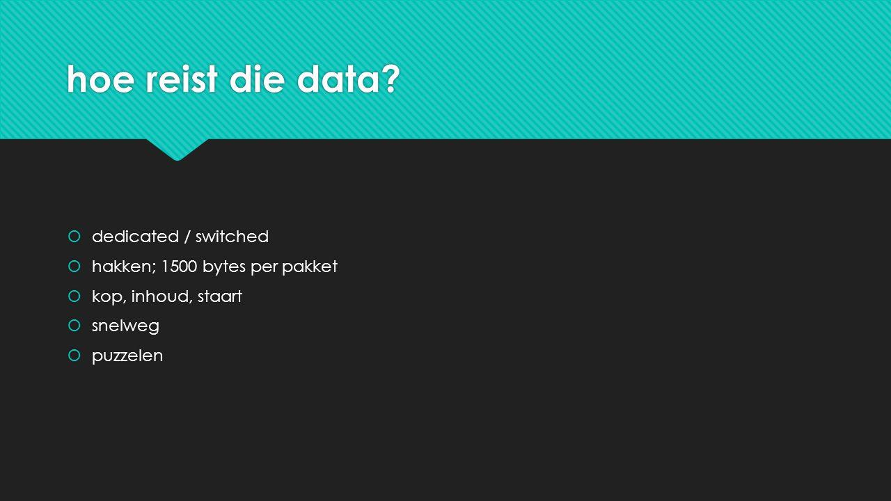 hoe reist die data.