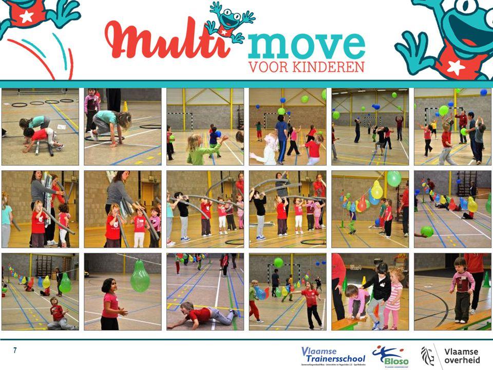 48 Boodschap naar ouders Zet gevarieerd bewegen ook in de thuisomgeving verder Kinderen aansporen regelmatig te bewegen (richtlijn WHO: 2 uur per dag) Beperk zittend gedrag (max.