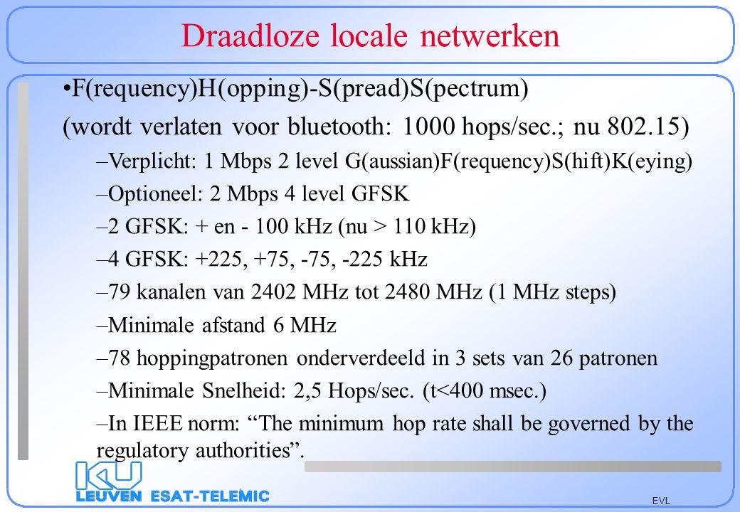 EVL Draadloze locale netwerken: CSMA/CA 6 9 4 5 2 5 3 3