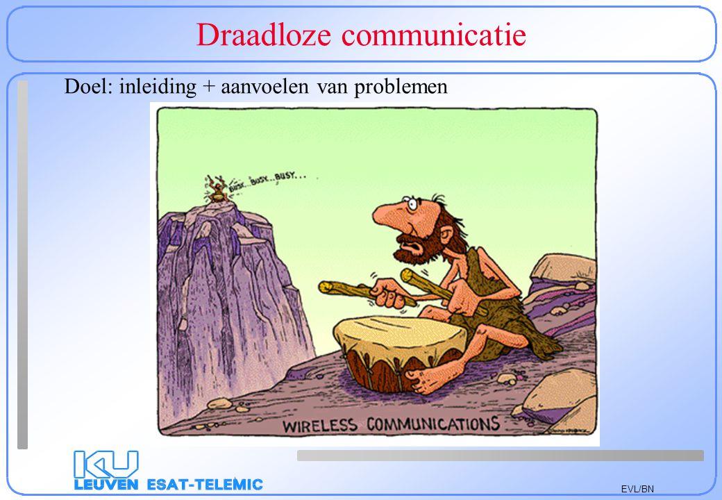 EVL/BN Draadloze communicatie Doel: inleiding + aanvoelen van problemen