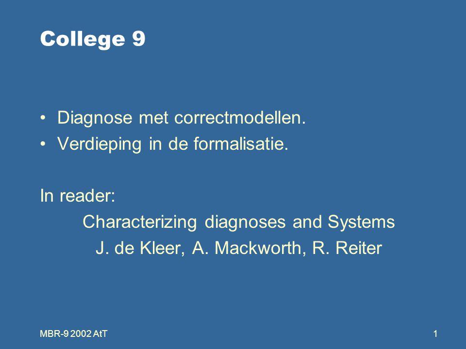 MBR-9 2002 AtT1 College 9 Diagnose met correctmodellen.