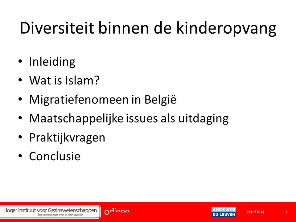 Diversiteit binnen de kinderopvang Inleiding Wat is Islam.