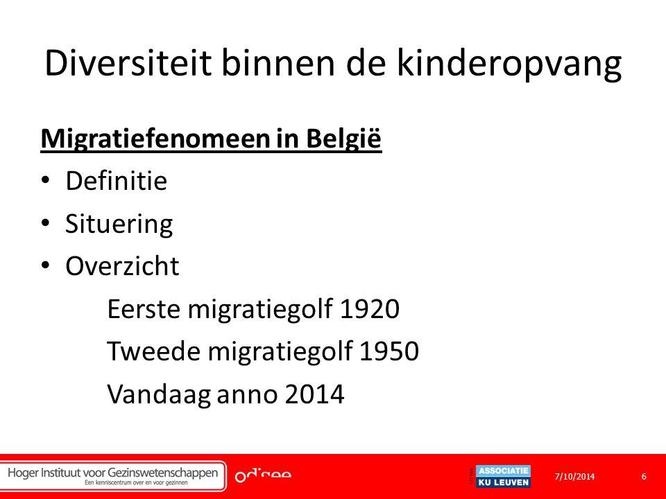 Diversiteit binnen de kinderopvang Bedankt voor jullie aandacht! 177/10/2014