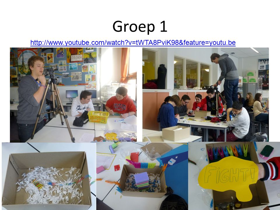 Groep 1 http://www.youtube.com/watch?v=tWTA8PviK98&feature=youtu.be