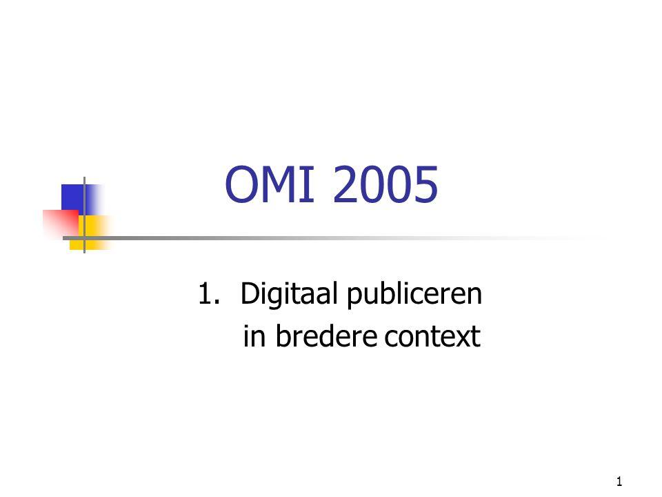 1 OMI 2005 1. Digitaal publiceren in bredere context