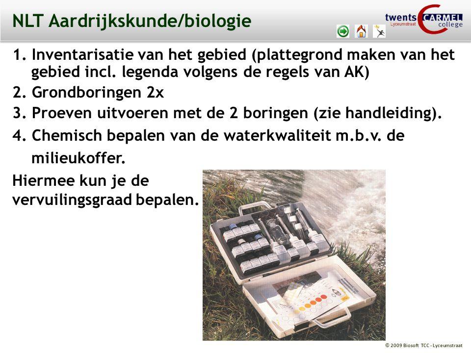 © 2009 Biosoft TCC - Lyceumstraat NLT Aardrijkskunde/biologie 1.