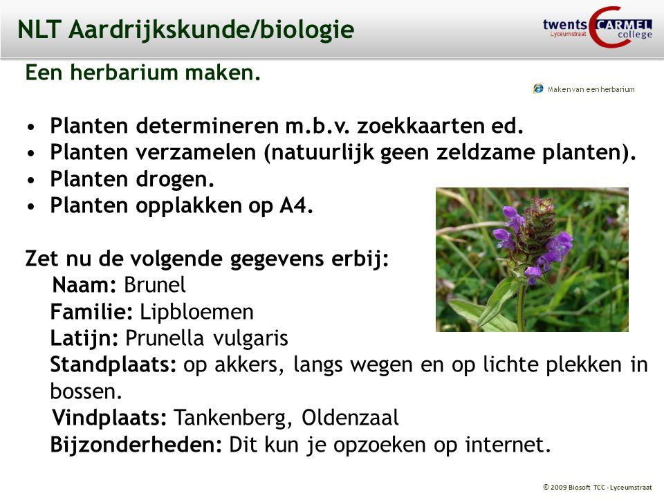 © 2009 Biosoft TCC - Lyceumstraat PWS Aardrijkskunde 6.