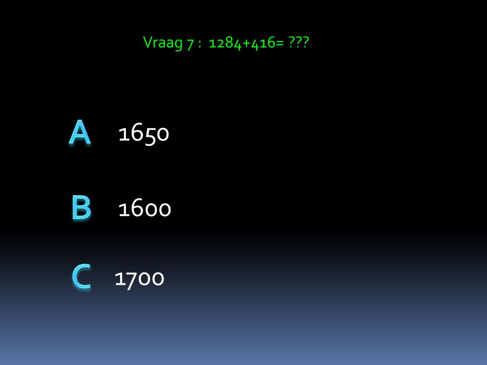 Vraag 6: 10x12x18 2160 2100 2150