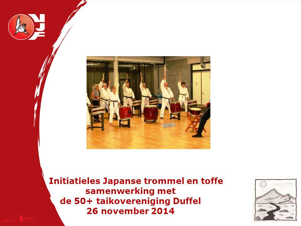Initiatieles Japanse trommel en toffe samenwerking met de 50+ taikovereniging Duffel 26 november 2014