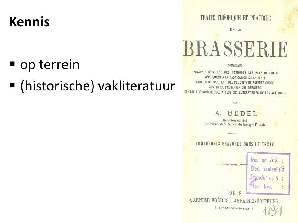 Kennis  op terrein  (historische) vakliteratuur