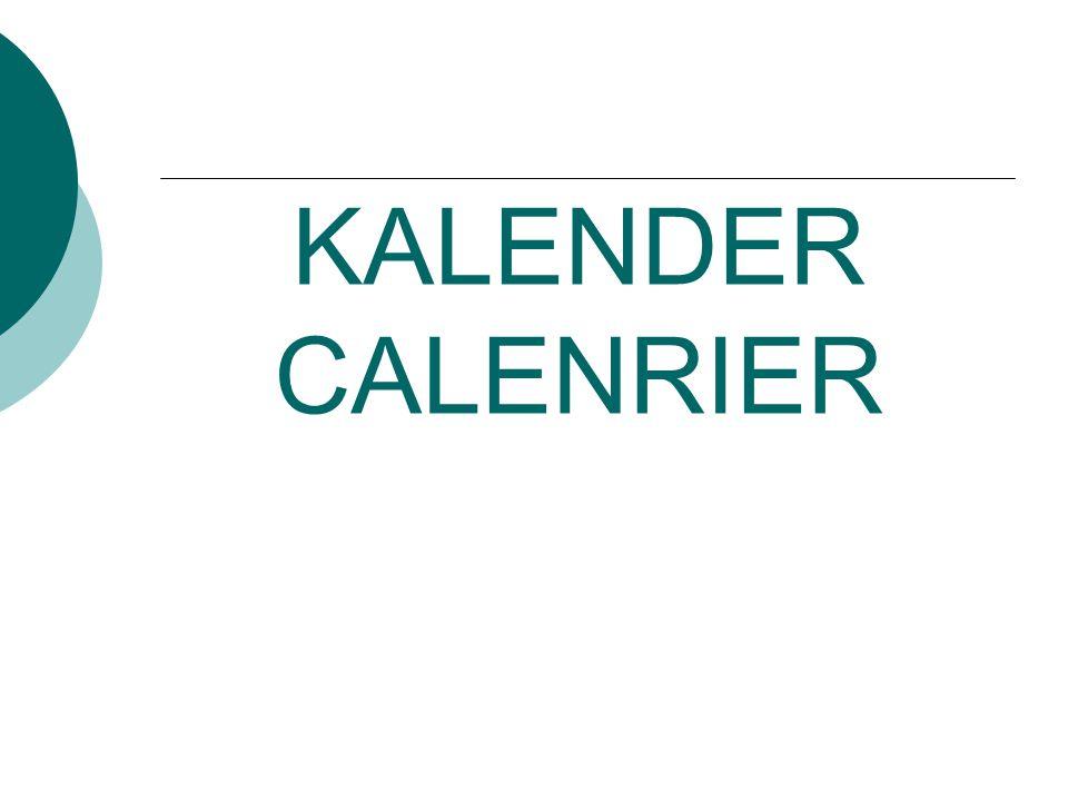 KALENDER CALENRIER