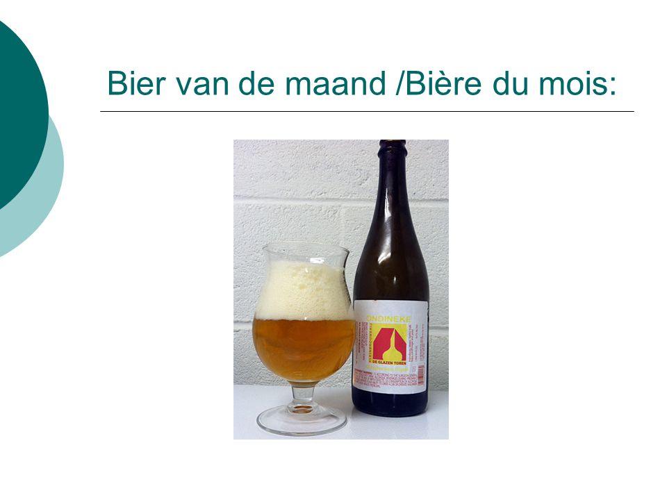 Bier van de maand /Bière du mois:
