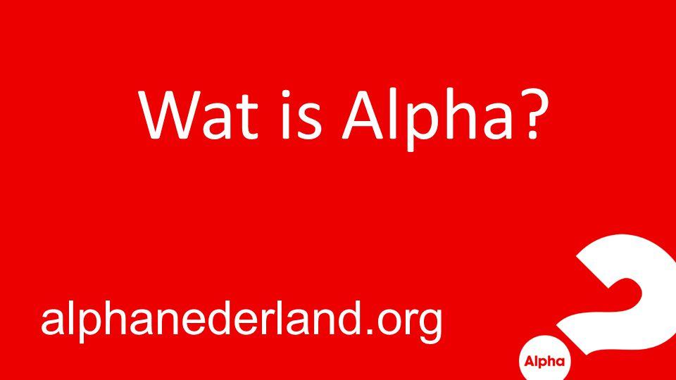 Lekker eten, vrienden ontmoeten, praten, lachen, leren en ervaren Alpha is:
