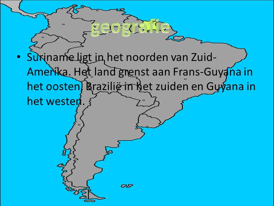 Suriname ligt in het noorden van Zuid- Amerika. Het land grenst aan Frans-Guyana in het oosten, Brazilië in het zuiden en Guyana in het westen.