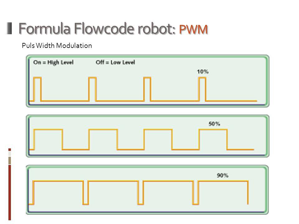 Formula Flowcode robot: PWM Puls Width Modulation