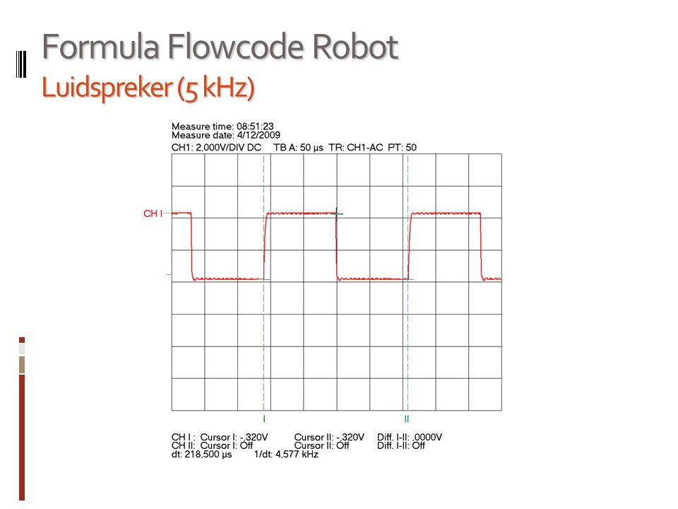 Formula Flowcode Robot Luidspreker (500 Hz)