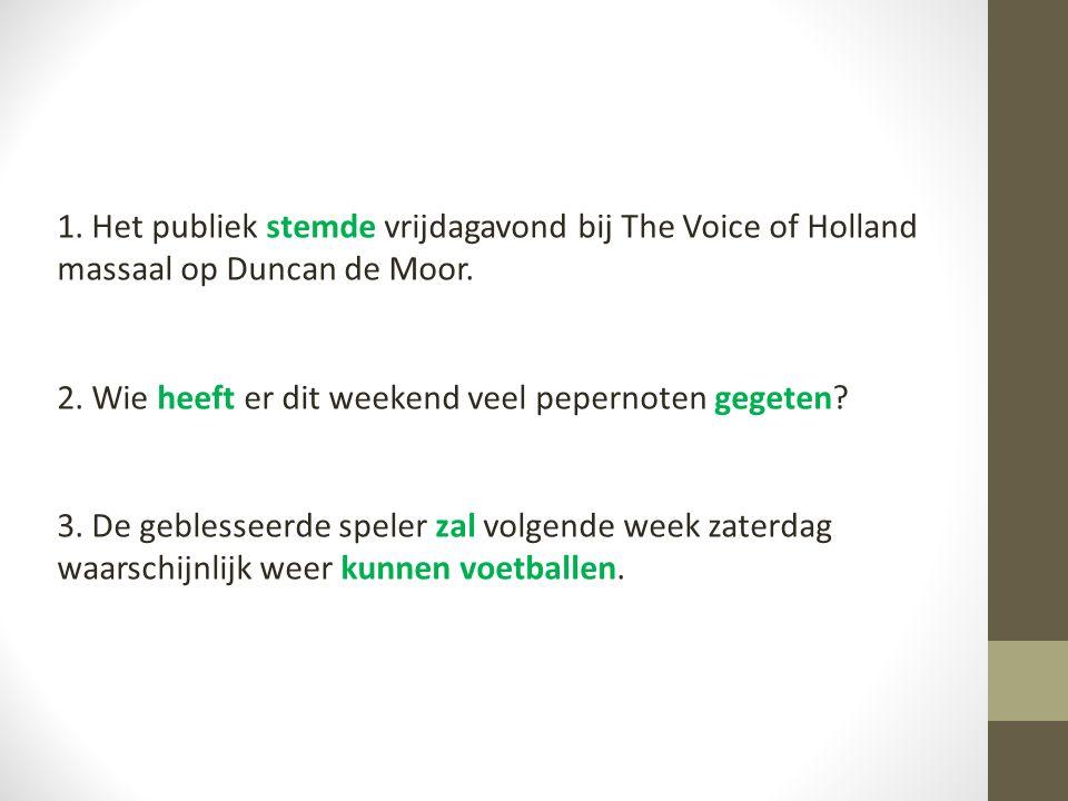 zww 1.Het publiek stemde vrijdagavond bij The Voice of Holland massaal op Duncan de Moor.