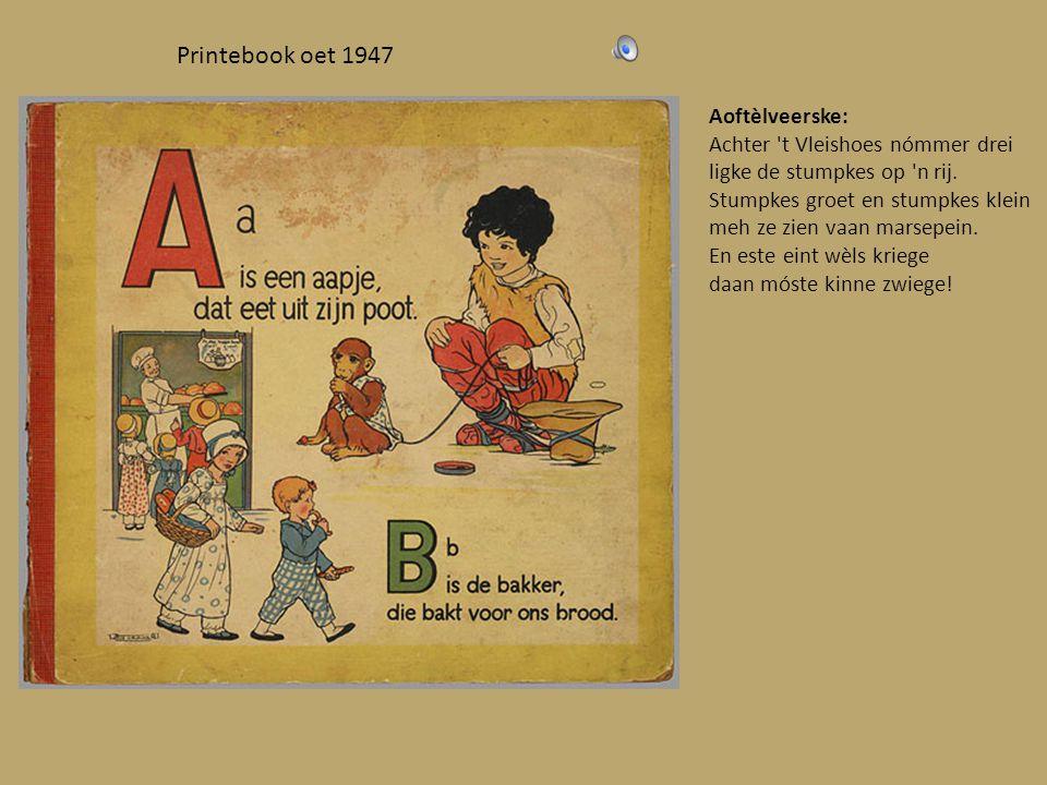 Oetgegeve umstreeks 1880 Dit is 'n hiel eigenaordig leedsje: Pimelo, pammelo, pom pom pimena, padenamino konkedo lavaja. Sjieng, sjieng sjieng en trèk