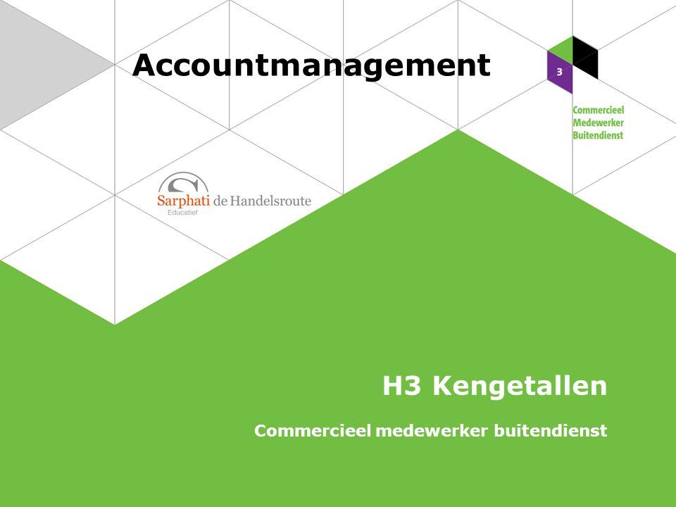 Accountmanagement H3 Kengetallen Commercieel medewerker buitendienst