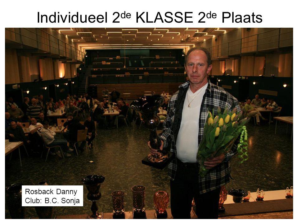 Individueel 2 de KLASSE 2 de Plaats Rosback Danny Club: B.C. Sonja