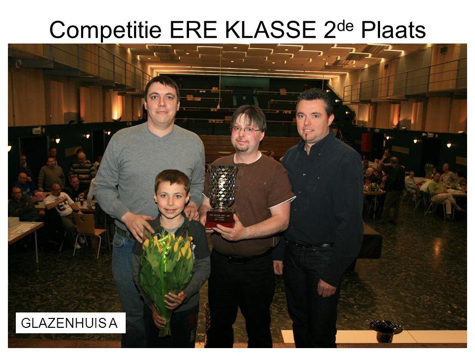 Competitie ERE KLASSE 2 de Plaats GLAZENHUIS A