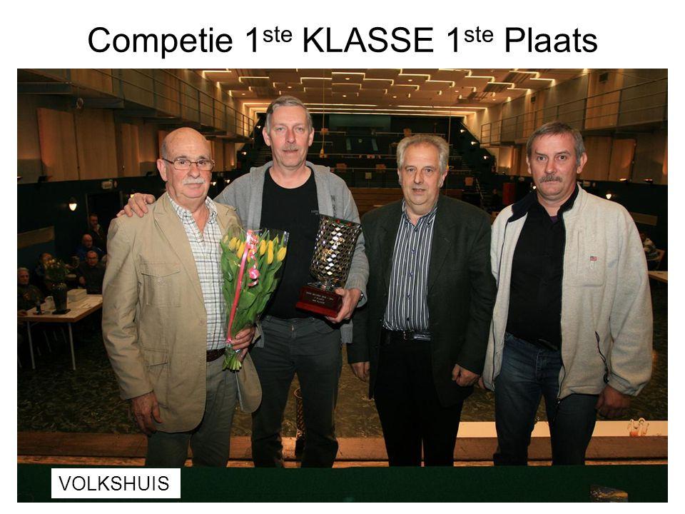 Competie 1 ste KLASSE 1 ste Plaats VOLKSHUIS