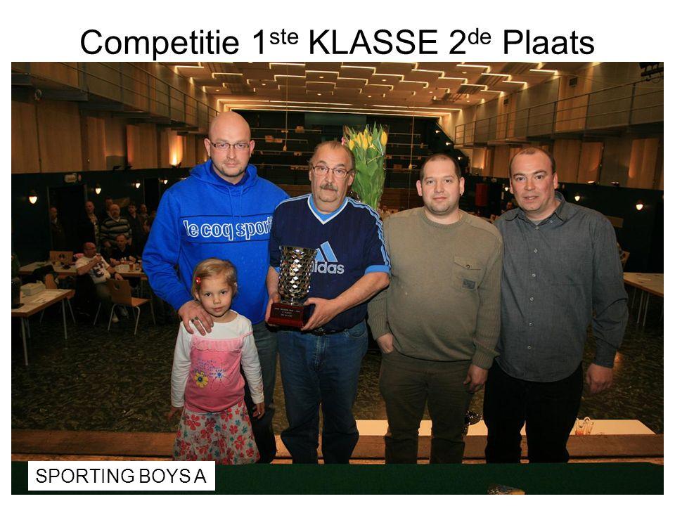 Competitie 1 ste KLASSE 2 de Plaats SPORTING BOYS A