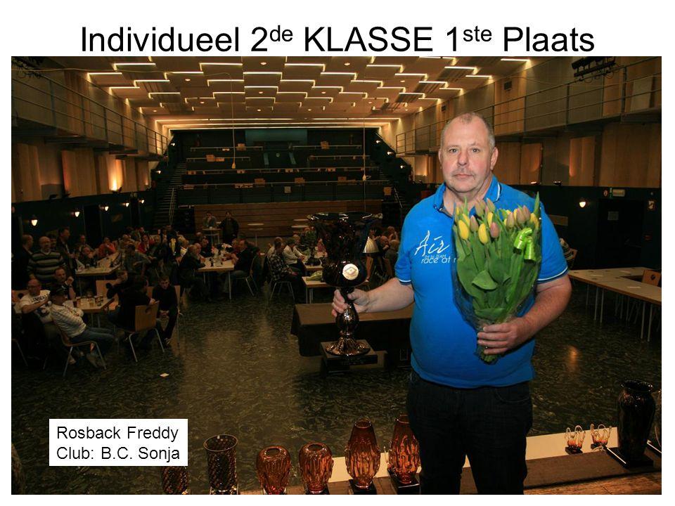 Individueel 2 de KLASSE 1 ste Plaats Rosback Freddy Club: B.C. Sonja