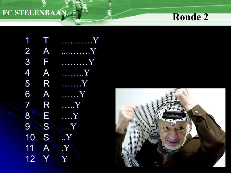 FC STELENBAAN Ronde 2 TAFARARESSAY123456789101112….…….Y....…….Y………Y……..Y…….Y……Y…..Y….Y…Y..Y.YY