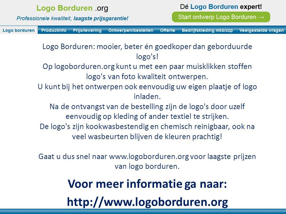 Logo Borduren: mooier, beter én goedkoper dan geborduurde logo s.