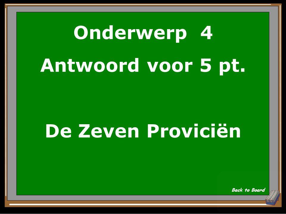 Onderwerp 4 Vraag voor 5 pt. De naam van het vlaggeschip van De Ruyter? Show Answer