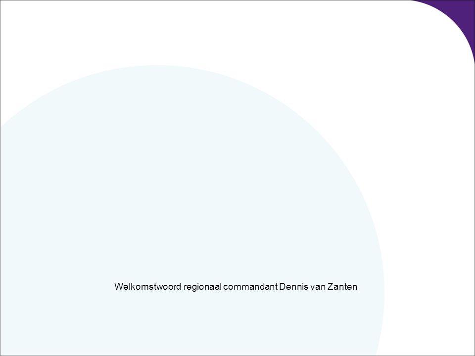 Welkomstwoord regionaal commandant Dennis van Zanten