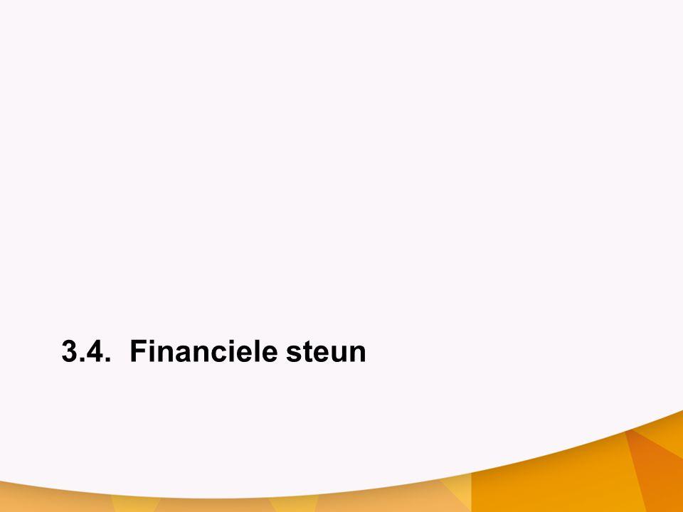 3.4.Financiele steun