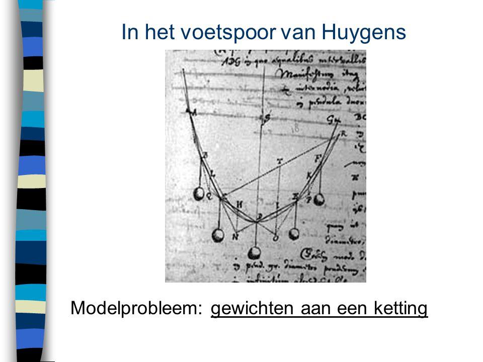In het voetspoor van Huygens Modelprobleem: gewichten aan een kettinggewichten aan een ketting