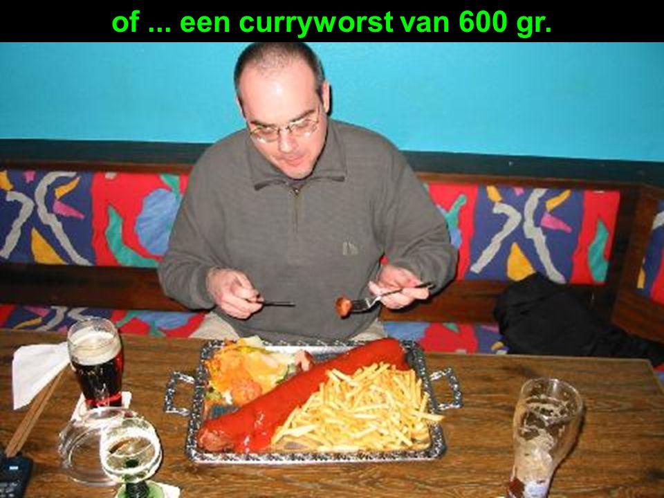 Iedereen die niet graag Schnitzels eet kan een worst en chips te bestellen...