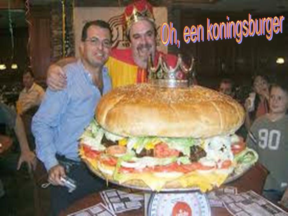 Een hamburger van 30 cm diameter, ok
