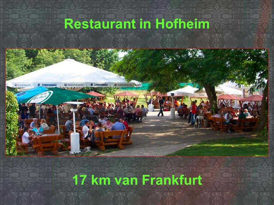 Restaurant in Hofheim 17 km van Frankfurt