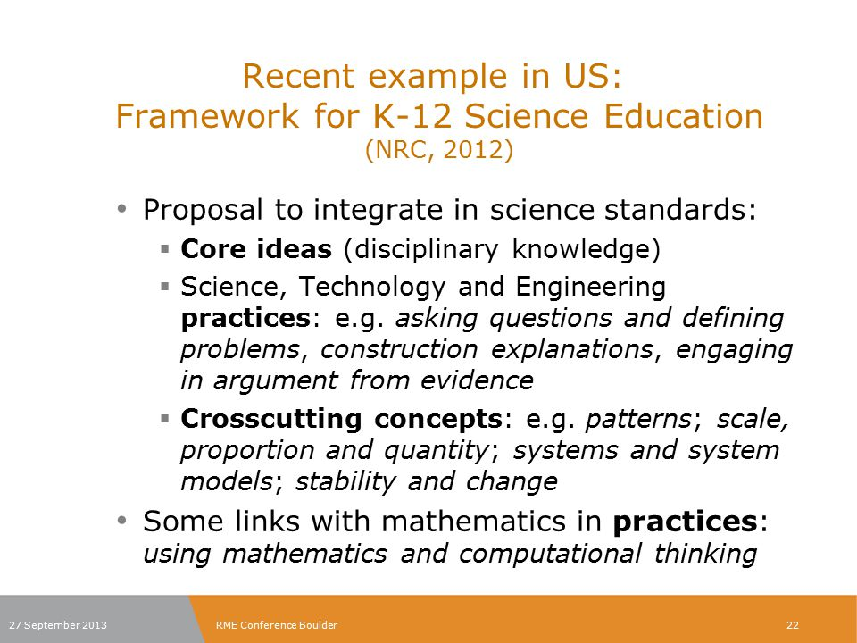 The three spheres of activity for scientists and engineers in F K-12 SE 27 September 2013RME Conference Boulder23
