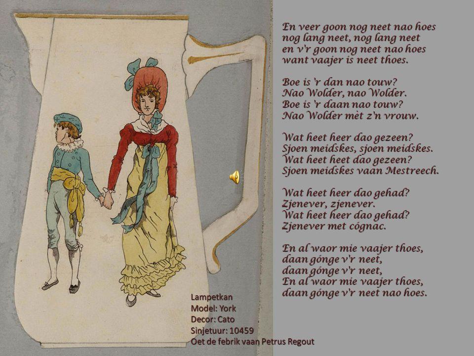 EUS EIGE LEEDSJES DEIL 4 De aofbeeldinge zien oontwerpe vaan eerdewerk oet de febrik vaan Petrus Regout.