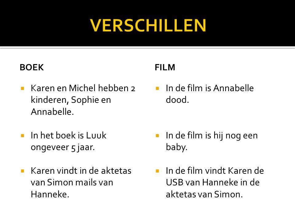 BOEK  Karen en Michel hebben 2 kinderen, Sophie en Annabelle.